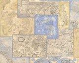 AS Creation Dekora Natur behang 6643-10 old antique maps of the world vinyl_