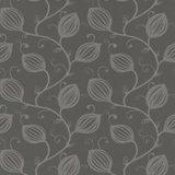 175-02 donker taupe natuurlijk bloem patroon vinyl op vlies _