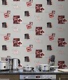 Keuken cappuccino behang_