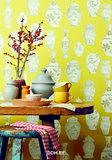 The Empress chinese vazes collection roze vlies 2 e foto voorbeeld patroon gele kleur _