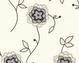 1228-65 bloemen ,met zilver/glitter_