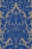 Vlies Barock blauw goud Rasch En Suite 546415zachte glans vinyl_
