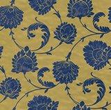 Vlies Barock blauw goud Rasch En Suite 546323zachte glans vinyl_