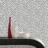 202953 luipaard  zwart wit met glitter_