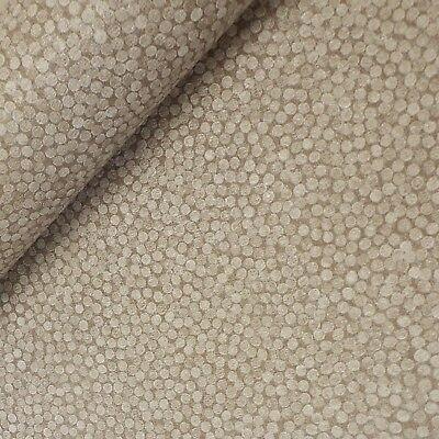 121208 bruin / creme stippen zwaar vinyl behang