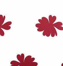 7238-5 vintage chic vlies wit met rode bloemen