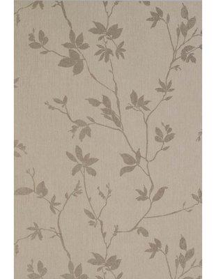 aristo taupe vlies met takken warme linnen look met zachte glans in bladeren