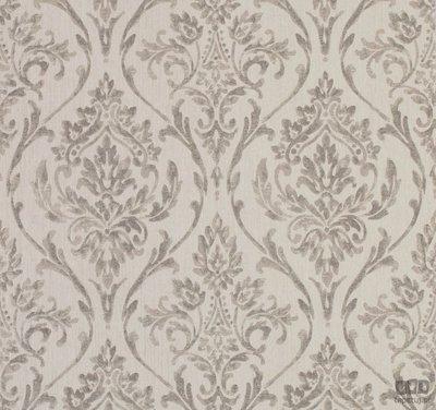 aristo grijs vlies met klassieke barok warme linnen look met zachte glans