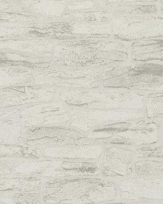 marburg relief steen behang licht taupe /grijs vlies