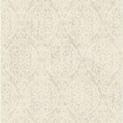 etten wallcovering mercury damask grijs/taupe/wit vlies