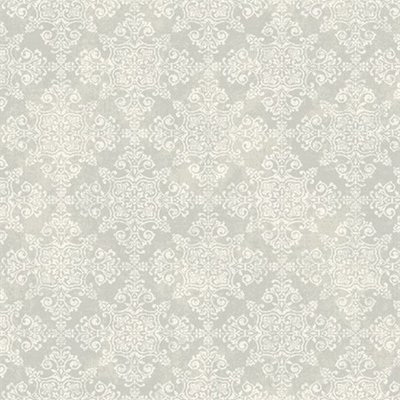 etten mercury traditional damask zilver/off white damask op vlies