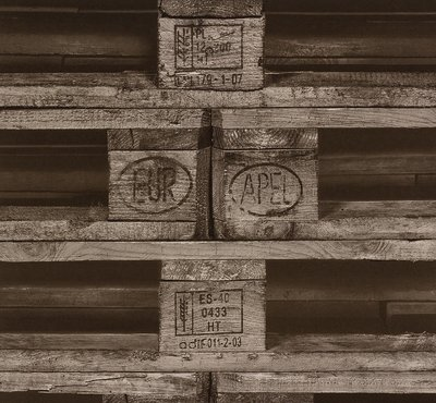 Rasch Uitverkoop 524109 pallet hout vlies behang