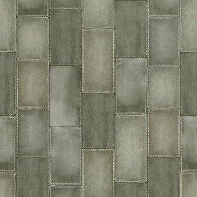 Rasch Uitverkoop 475838 lederlook patches grijs  vlies