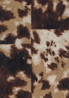 Rasch Uitverkoop 498233 bruin koeienhuid vlies