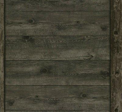 Rasch Uitverkoop 861426 antraciet landelijk hout  vlies behang
