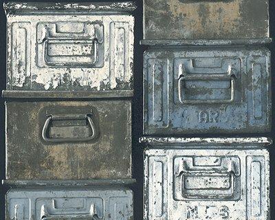 metalen container bakken behang papier