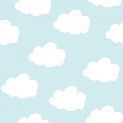 baby blue dreamy clouds  vlies van onszelf studio