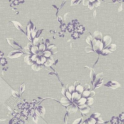 nordic collectie grijs weefsel vlies met lila bloem