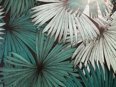 jungle chic vlies tropische bladeren