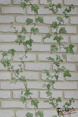ivy english cottage klimop steen papier behang
