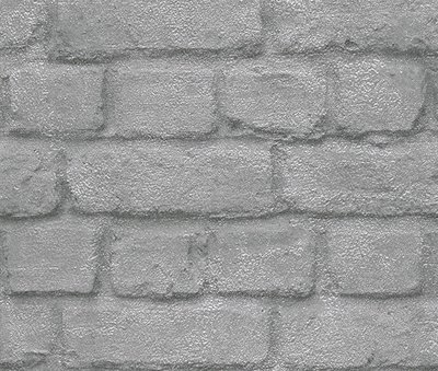 Rasch Kids Club 226751 Steen behang zilver/grijs