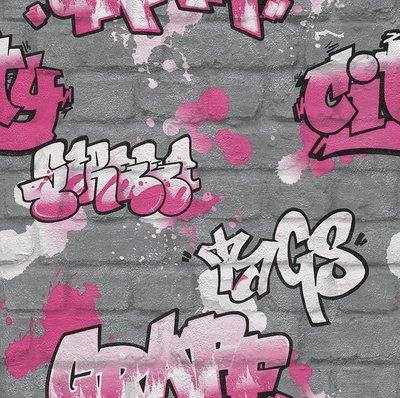 Kids Club 237818 Graffiti behang