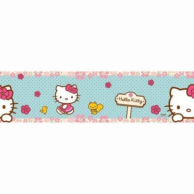 Kids@Home Hello Kitty Woodland Stroll behangrand 90-044