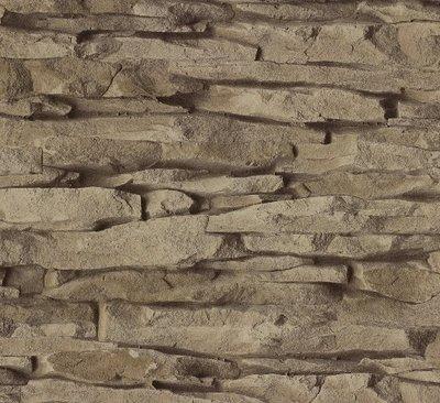 Behang bruine steen Home Style Rasch 859508