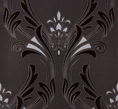 95703-1 zwart zilver glitter 2 e foto voorbeeld patroon