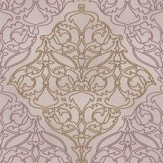 421637 vlies oudroze met goud  barok