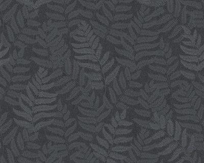 AS Creation 32267-5 blad motief met zilver glitter