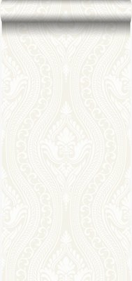 Origin Grandeur behang 346601 gebroken wit/creme velours