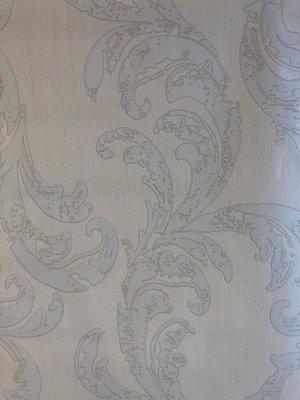 wit/grijs vlies behang