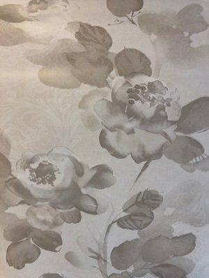taupe bloem  vlies behang