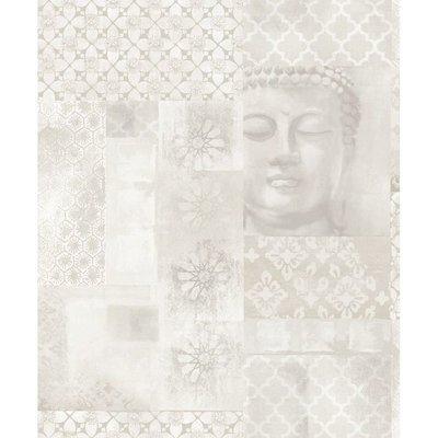 670100 buddha enlighten behang met glitter