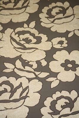 vlies behang met bloemen