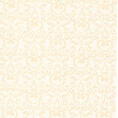 vlies weefsel met klein creme barok patroon
