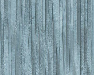 AS Creation Decoworld 2 behang 30748-2 petrol hout