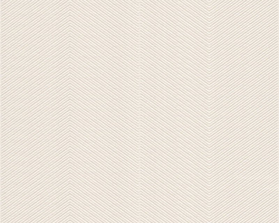30698-4 off white /creme visgraat structuur met glitter effect op vlies