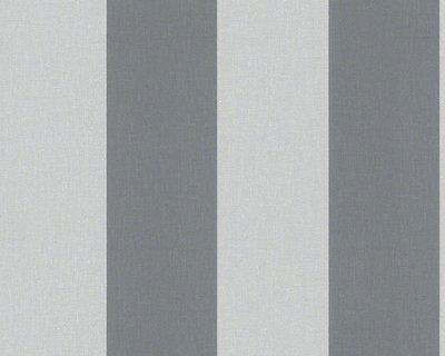 AS Creation Elegance 1815-89 linnen weefsel grijs op grijs