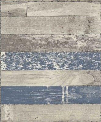 dubbel breed 1,06m sloophout horizontaal met navy blauw