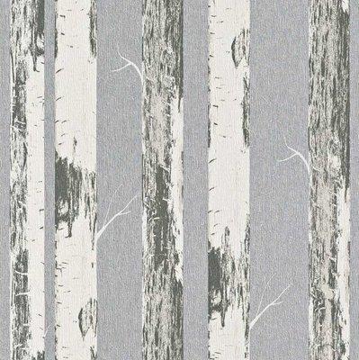 Rasch Behang 574548 berkenbomen metalic