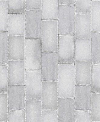 Rasch Home Style Behang gestikt grijs Leer Motief 475814 vlies