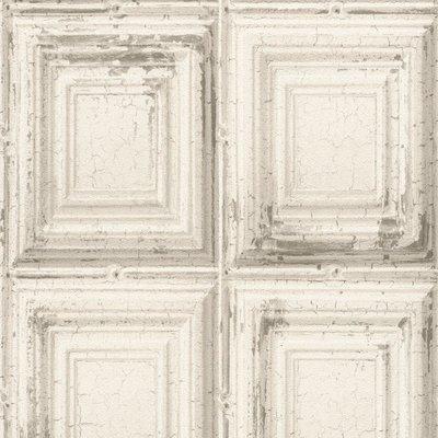 932614 verweerde houten panelen  op vlies