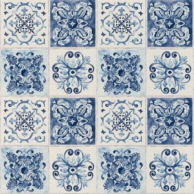 Rasch Tiles&More 885309 delftsblauwe tegel optiek