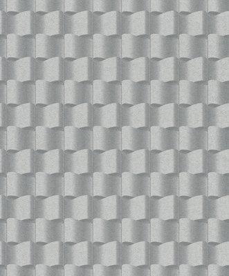 rasch optical illusion grijs vlies 3d behang