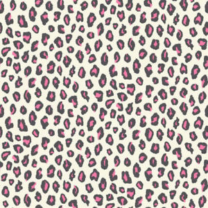202946 luipaard  zwart wit met glitter