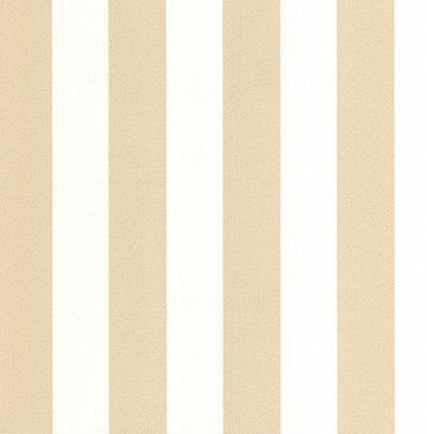 13700-50 vinyl op vlies wit met goud glitter streep