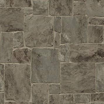 P+S Stenen Behang 45008-40 3d steen met voelbaar relief