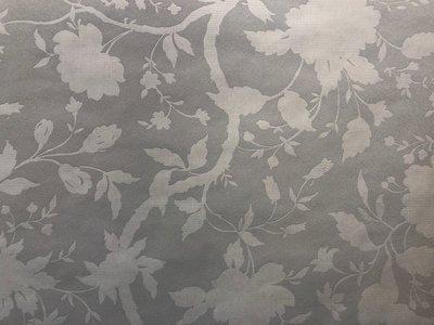 Bloemen behang 32-331 zacht grijs